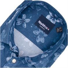 NORTH halbarm Freizeithemd dunkelblau
