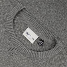 NORTH Pullover grau