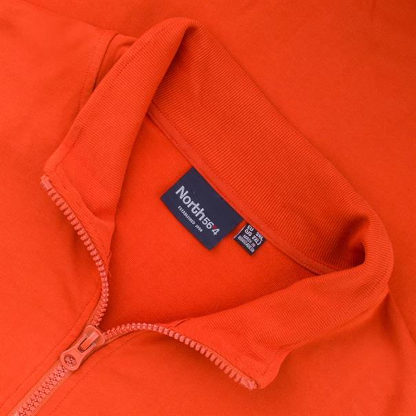 NORTH Sweatjacke orange
