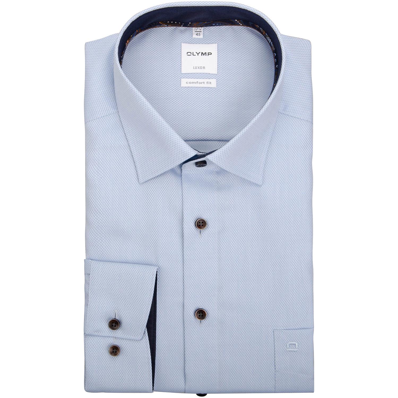 Olymp Luxor comfort fit Hemd blau – Herrenmode in Übergrößen