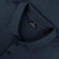 RAGMAN langarm Poloshirt blau