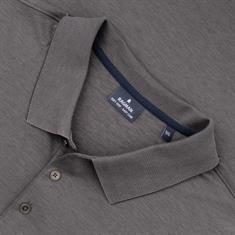 RAGMAN langarm Poloshirt grau