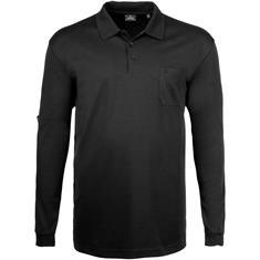 RAGMAN langarm Poloshirt schwarz