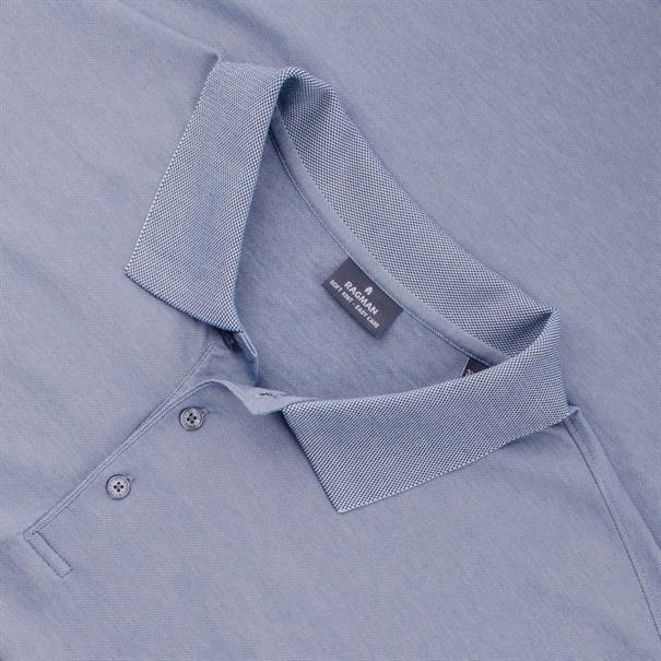 RAGMAN Poloshirt blau-meliert