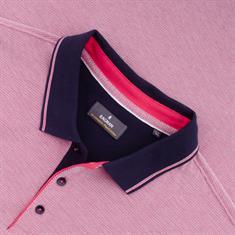 RAGMAN Poloshirt rot-meliert
