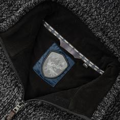 RAGMAN Strick-Fleecejacke grau-meliert