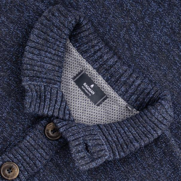 RAGMAN Strick-Pullover blau-meliert