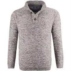 RAGMAN Strick-Pullover grau-meliert