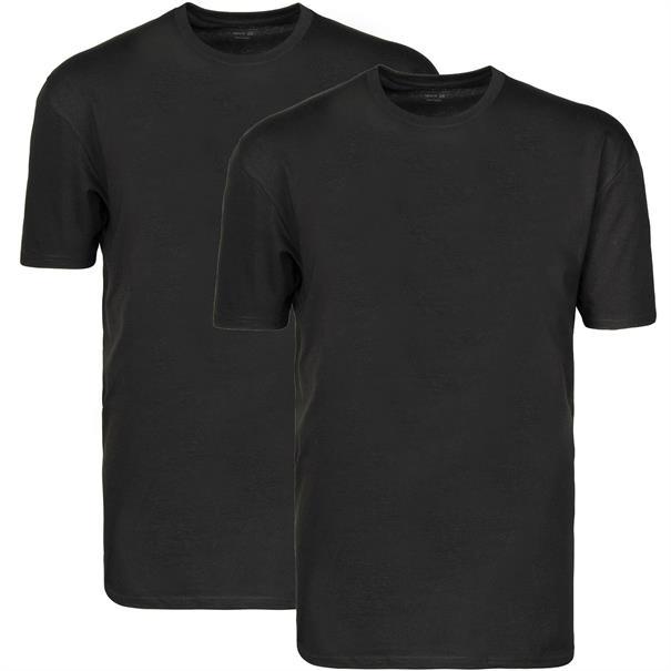 RAGMAN T-Shirt, Doppelpack schwarz