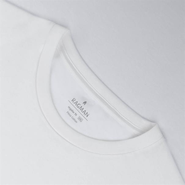 RAGMAN T-Shirt, Doppelpack weiß