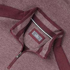 Ragmann Zipper-Sweatshirt rot-meliert