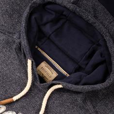 REDFIELD Kapuzen-Sweatshirt blau-meliert