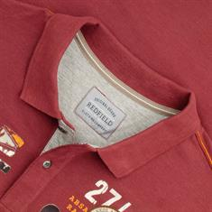 REDFIELD langarm Poloshirt rot