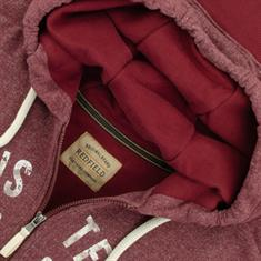 REDFIELD Sweatjacke bordeaux