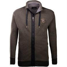 REDFIELD Sweatjacke grau-meliert