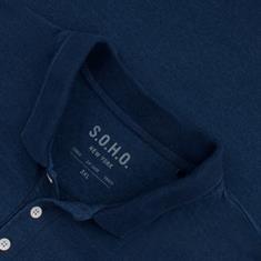 S.O.H.O. Poloshirt blau-meliert