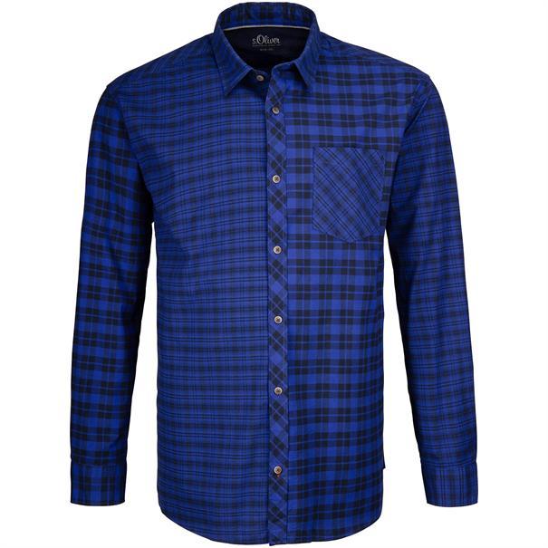 S.OLIVER-Freizeithemd blau