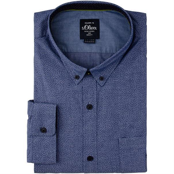 S.OLIVER Freizeithemd blau