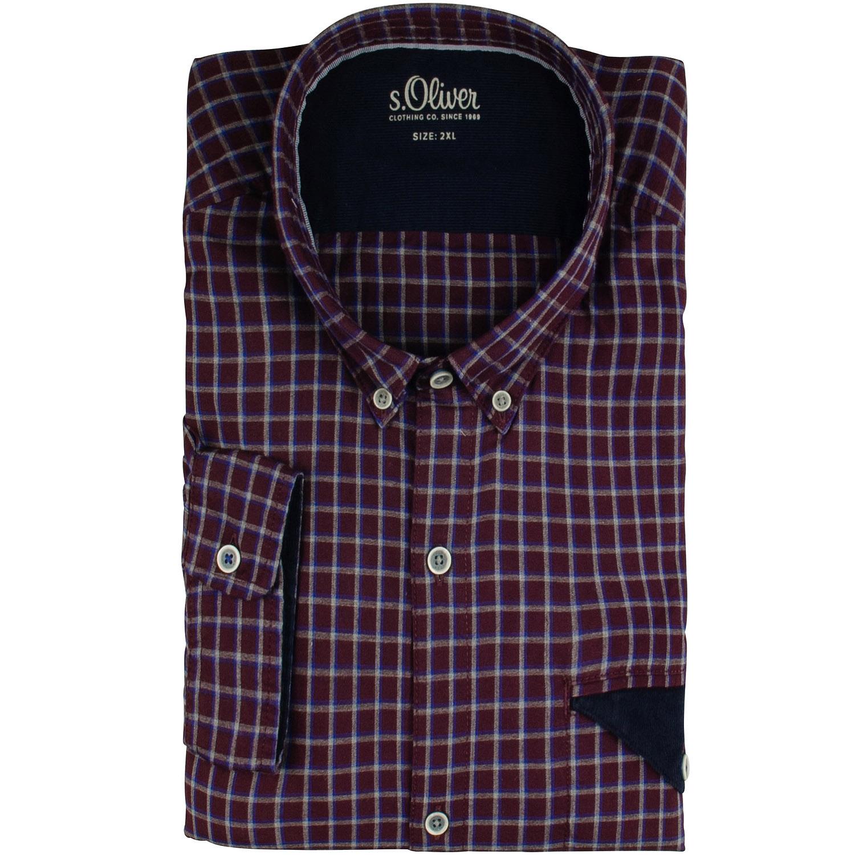 s.Oliver unifarbene klassische Herrenhemden günstig kaufen
