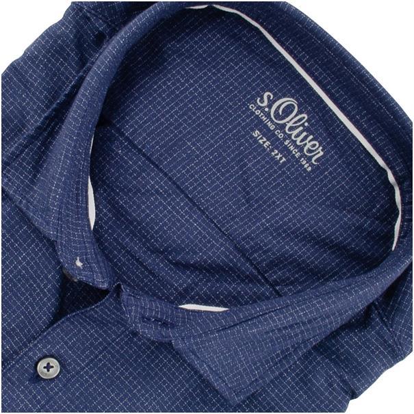 S.OLIVER Freizeithemd - EXTRA lang blau
