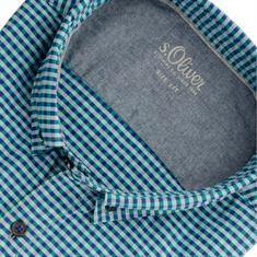 S.OLIVER Freizeithemd - EXTRA langer Arm blau