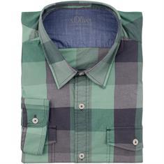 S.OLIVER Freizeithemd grün