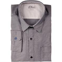 S.OLIVER Freizeithemd grau