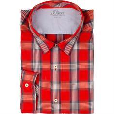 S.OLIVER Freizeithemd rot