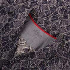 S.OLIVER halbarm Freizeithemd dunkelblau