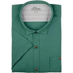 S.OLIVER halbarm Freizeithemd grün