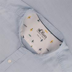 S.OLIVER halbarm Freizeithemd hellblau