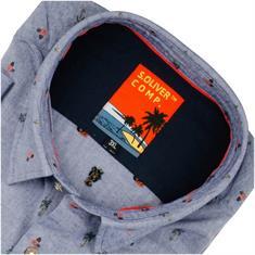 S.OLIVER halbarm Freizeithemd jeansblau
