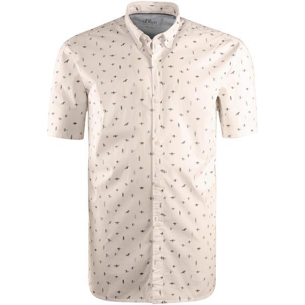 S.OLIVER halbarm Freizeithemd weiß