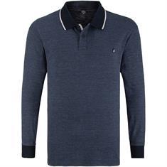S.OLIVER langarm Poloshirt blau-meliert