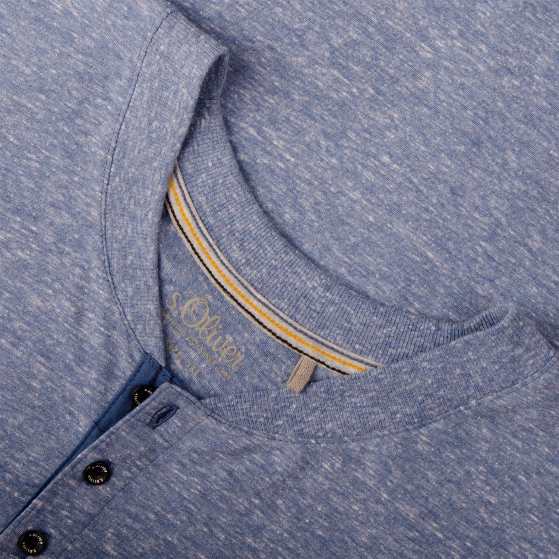 1390060207568e S.OLIVER langarm Shirt blau-meliert