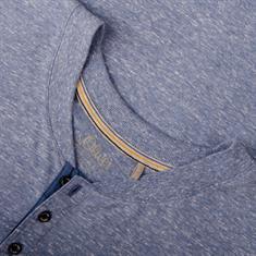 S.OLIVER langarm Shirt blau-meliert