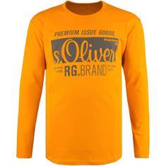 S.OLIVER Langarmshirt gelb