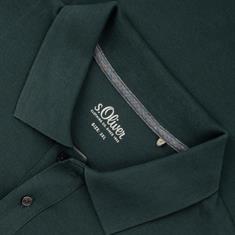S.OLIVER Poloshirt dunkelgrün