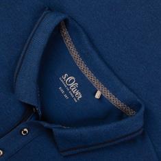 S.OLIVER Poloshirt - EXTRA lang blau