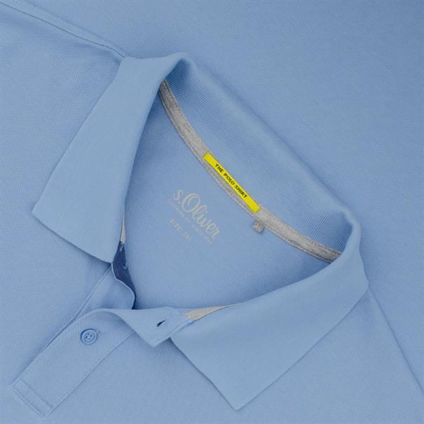 S.OLIVER Poloshirt hellblau