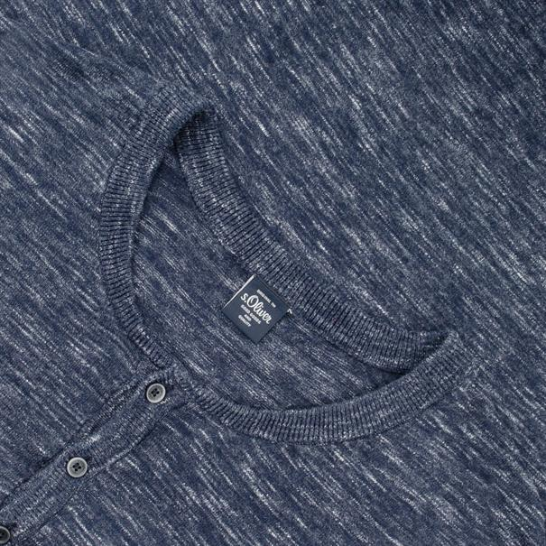 S.OLIVER Pullover blau-meliert