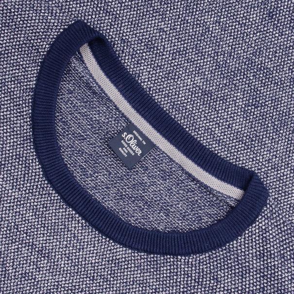 S.OLIVER Pullover blau