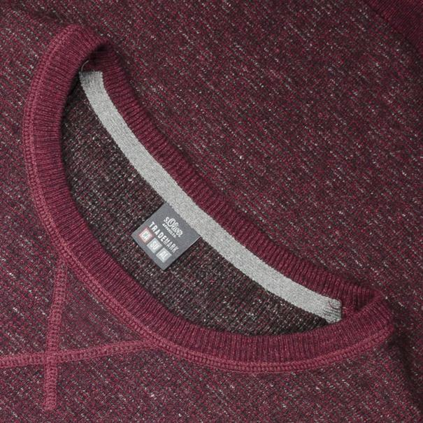 S.OLIVER Pullover bordeaux