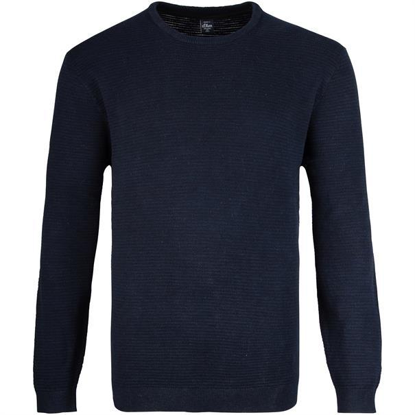 S.OLIVER Pullover dunkelblau
