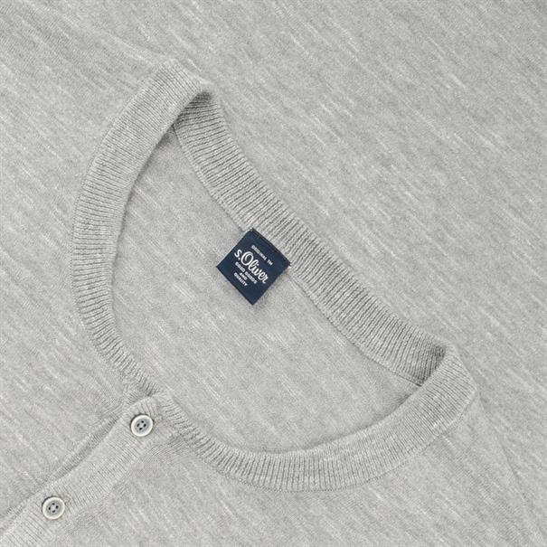 S.OLIVER Pullover grau-meliert
