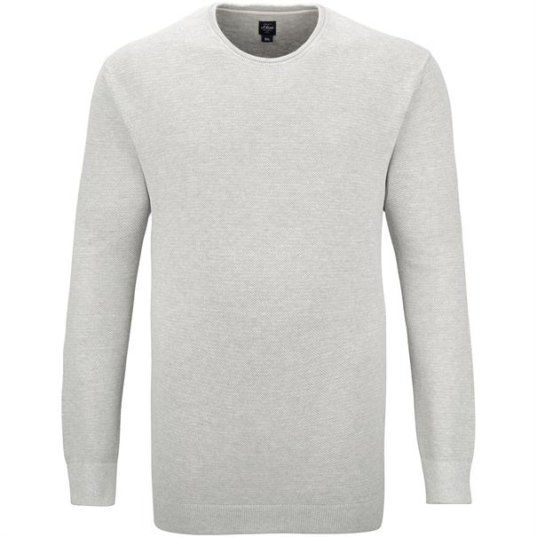 S.OLIVER Pullover hellgrau