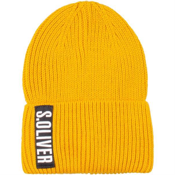 S.OLIVER Strick-Mütze gelb