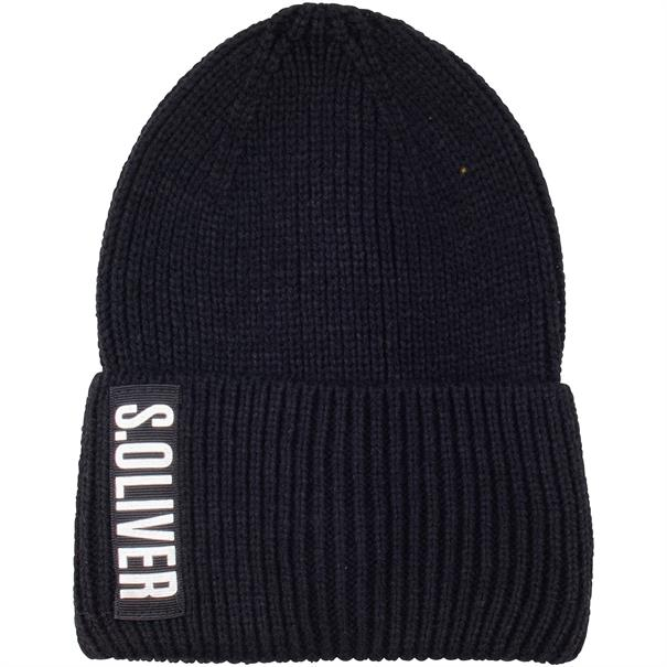 S.OLIVER Strick-Mütze schwarz