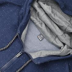 S.OLIVER Sweatjacke blau-meliert