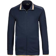S.OLIVER Sweatjacke - EXTRA lang marine